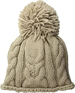 Cable Stitch Beanie with Pom