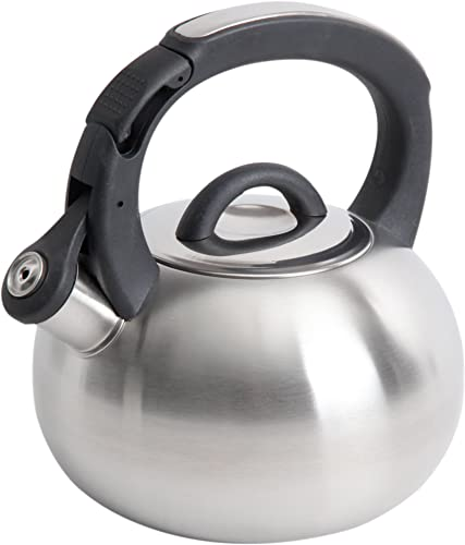 new arrival Mr. 2021 high quality Coffee Piper Shine Stainless Steel Whistling Tea Kettle, 2-Quart, Brushed Stainless Steel outlet online sale