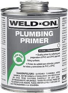 Weldon 14033 Clear Professional Plumbing Grade PVC/Cpvc Primer Low-Voc, 1/4 Pint, Clear