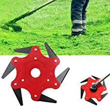 Unimore Trimmer Head Cutter, 6 Steel Blades Razors Trimmer Replacement Head, Universal Grass Weed Cutter Head Tool