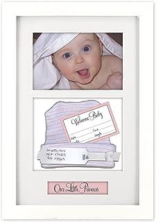 Malden International Designs Baby Memories Baby Memoto Shadowbox Picture Frame, 4x6, White