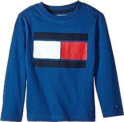 Tommy Hilfiger Kids - Tommy Flag-Bex Jersey Long Sleeve Tee (Big Kids)