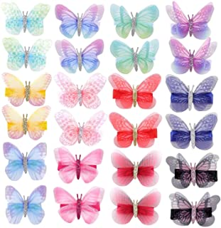 inSowni 24 Pack/12 Pairs Colorful Realistic Butterfly Alligator Hair Clips Barrettes Accessories for Baby Girls Toddlers T...