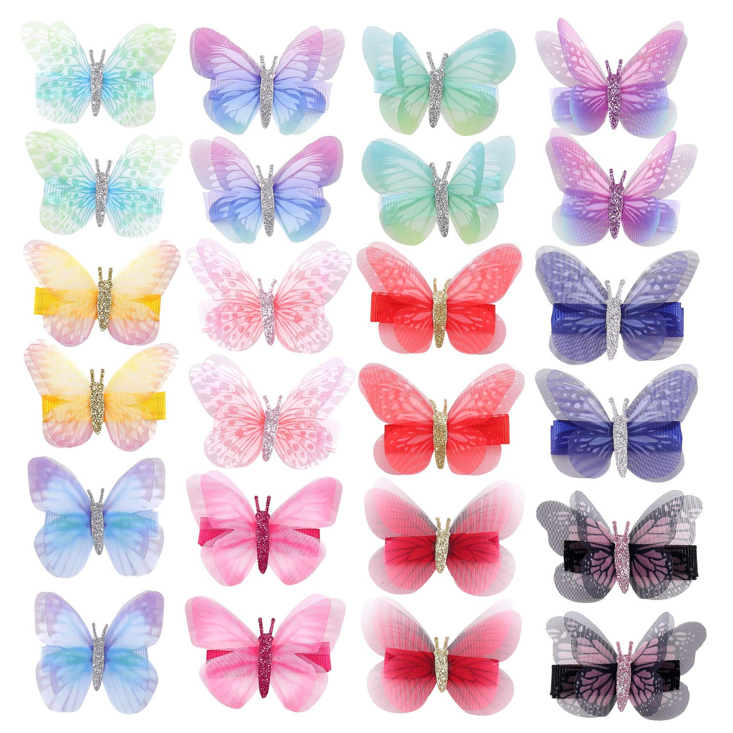 inSowni 24 Pack Ranking TOP7 New popularity 12 Pairs Butterfly Alligator Colorful Realistic
