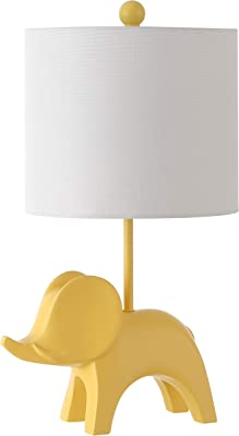 Safavieh Kids Lighting Collection Ellie Elephant Yellow Ceramic 20-inch Bedroom Living Room Home Office Desk Nightstand Table Lamp (LED Bulb Included)