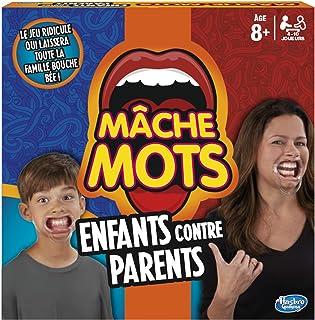Hasbro Mche-Mots - Jeu de Societe Mche-Mots Enfants Contre Parents - Jeu Drole de Rapidité - Version Française