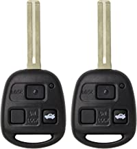 Keyless2Go New Uncut Keyless Remote Combo Flip Key Fob with Short Blade for Vehicles That Use FCC HYQ1512V (2 Pack)