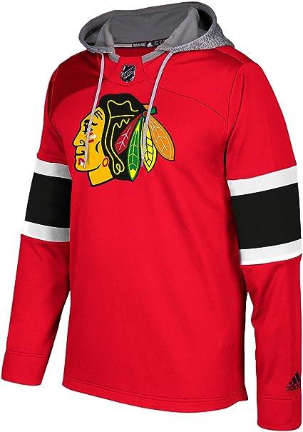 adidas Chicago Blackhawks NHL Men's Platinum Jersey Hooded Sweatshirt
