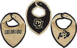 Fast Asleep NCAA Colorado Buffaloes Bib Set (3 Pcs) for Baby Boy or Girl