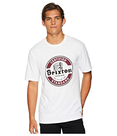 Brixton Soto Short Sleeve Tee (White) Men