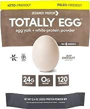 Designer Protein Totally Egg, Dutch Chocolate, 12.4 Oz, Egg White & Yolk Protein Powder