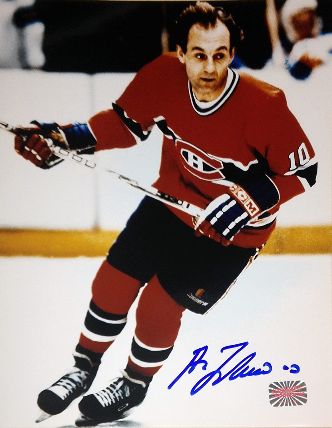 Guy Lafleur Autographed 8x10 Photograph (Red)Montreal Canadiens
