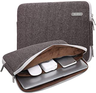 """WIWU Laptop Sleeve Bag Case Cover,Protective Bag Ultrabook Netbook Carrying Protector Handbag Compatible for Men Women Compatible for MacBook/Dell/Huawei/HP Fits 11.6 Inch/12 Inch(12"""",Brown)"""