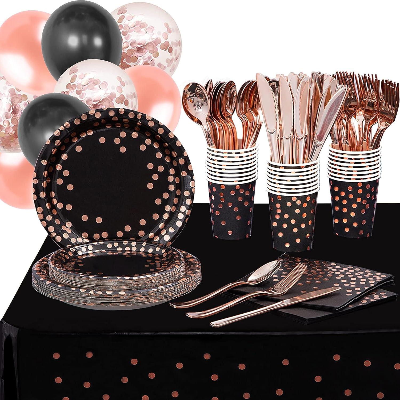 Black Rose Cheap SALE Start Gold Party Supplies Pcs Dis Jacksonville Mall 216 Dots