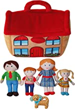 "Snuggle Stuffs Kids Happy Family 8"" Dolls & House Educational Preschool Toy Plush Dolls for Girls 2 3 4 5 Years Old - Set ..."