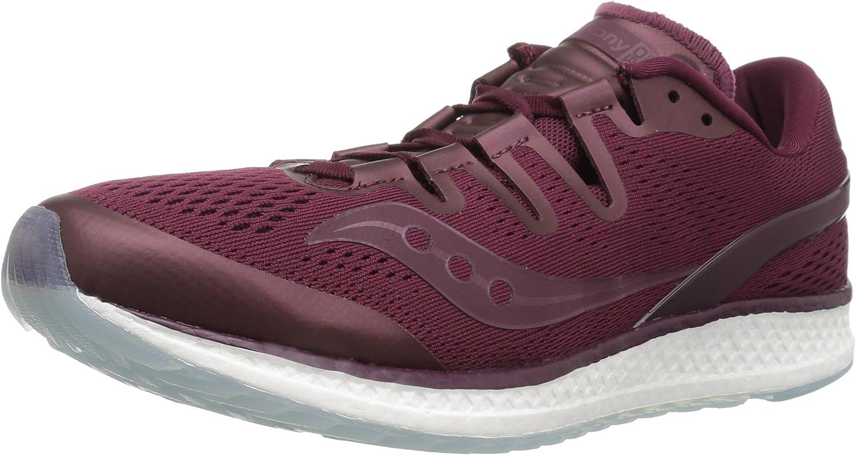 Saucony Freedom ISO Unisex Running shoes, Burgundy, 15 Medium US