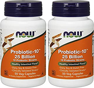 Sponsored Ad - NOW Foods Probiotic-10 25 Billion 50Vcaps (2 Bottles)