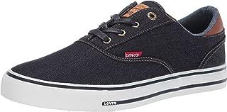 Levi's Men's Ethan-DNM-II Navy/Tan Sneakers Shoes