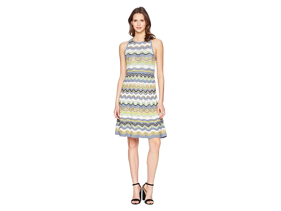 M Missoni Wave Crochet Dress (Gray) Women