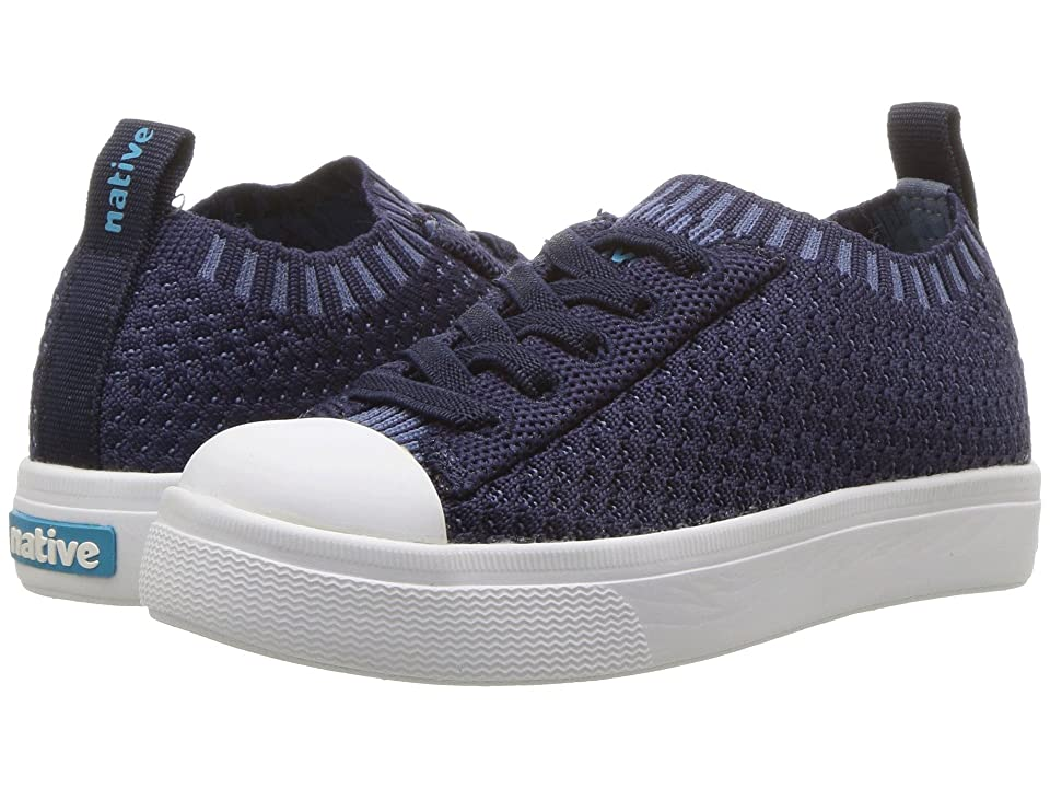 Native Kids Shoes Jefferson 2.0 Liteknit (Toddler/Little Kid) (Regatta Blue/Shell White) Kids Shoes