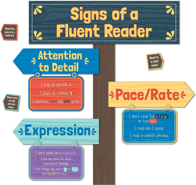 Carson Dellosa Signs of a Fluent Reader Mini Bulletin Board Set