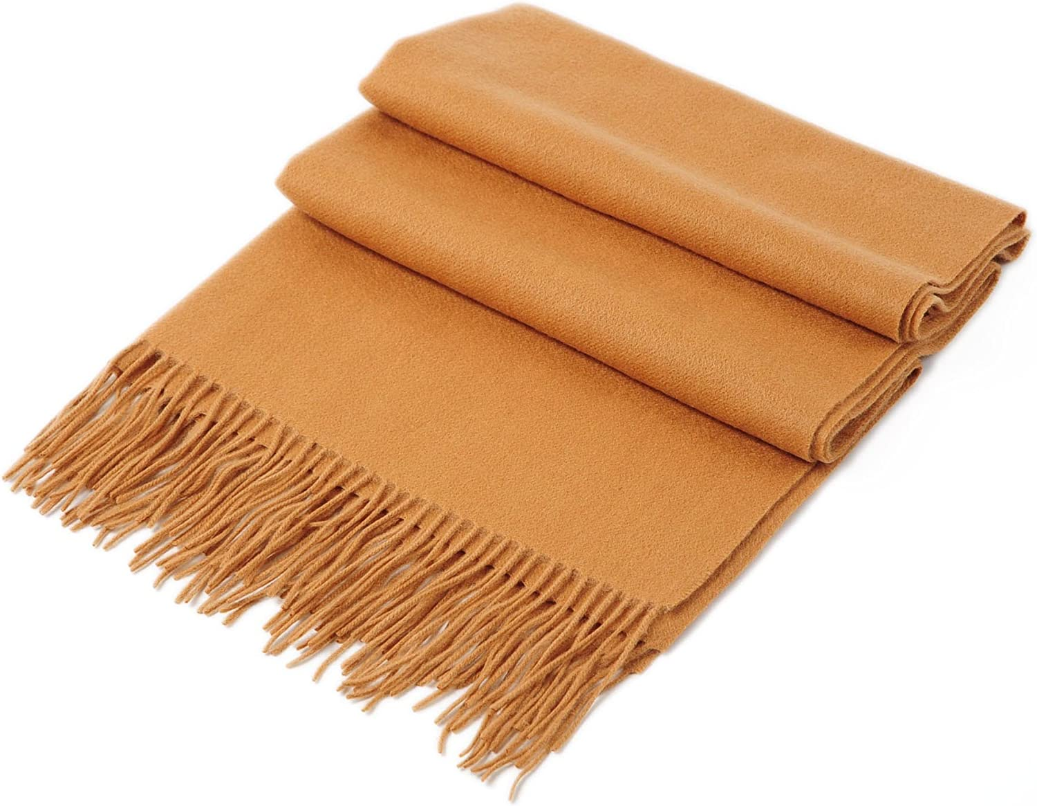 CUDDLE DREAMS Cashmere Wool Scarf Wrap with Fringe