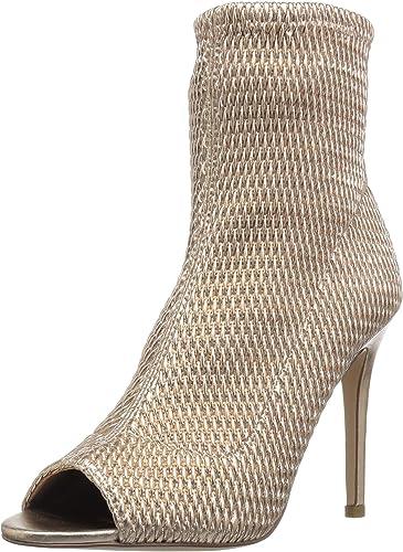 BCBGeneration Wohommes Jane Peep Toe Ankle démarrage, Roseor Quilted Leather, Leather, 10 M US  édition limitée chaude