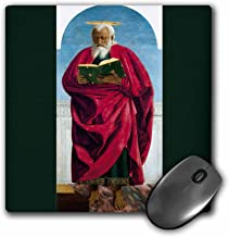 3dRose BLN Book and Reading Featured in Fine Art – St. Simon the Apostle c. 1454 by Piero Della Francesca – MousePad (mp_170890_1)