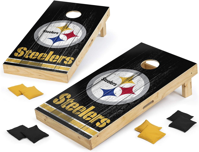 PROLINE NFL Be Max 83% OFF super welcome Pittsburgh Steelers 2'x4' Set Board Cornhole Vinta -