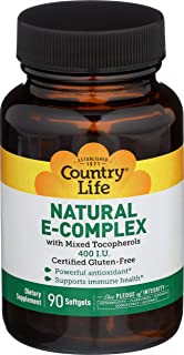 Vitamin E Complex 400 IU with Mixed Tocopherols Country Life 90 Softgel
