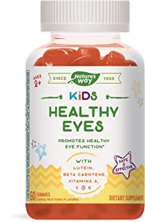 Nature's Way Kids Healthy Eyes, with Lutein and Beta Carotene, Ages 2+, Tropical Fruit Punch Flavored, 60 Vegetarian Gummies