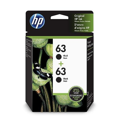 HP 63   2 Ink Cartridges   Black   F6U62AN