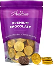 Madelaine Premium Solid Milk Chocolate Gold Coins (Medium Coins, 1/2 LB)