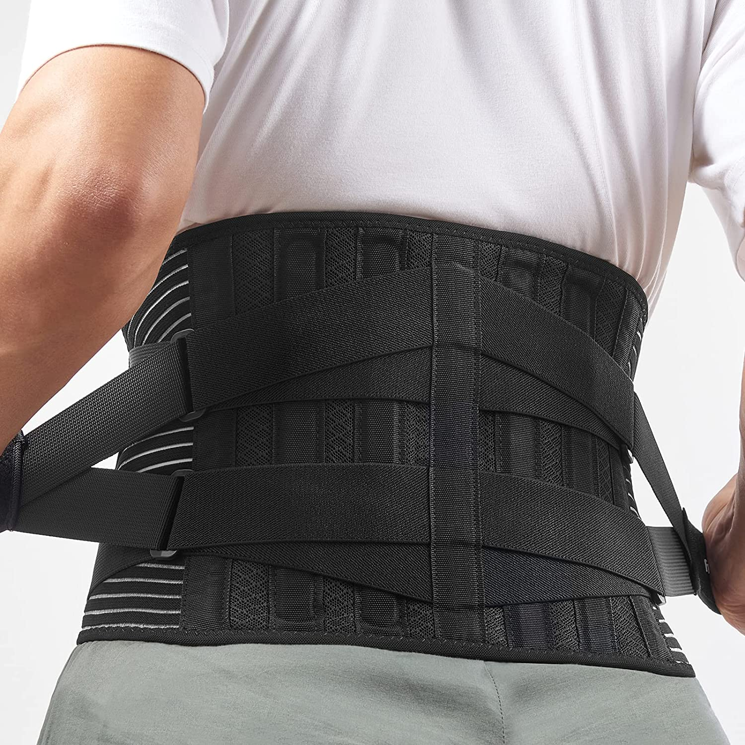 Freetoo Back Brace for Lower Max Long Beach Mall 65% OFF Pain Brea with Stays 4 Relief