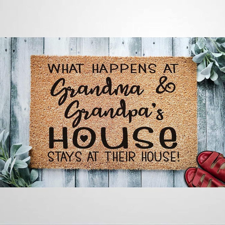 What Time sale Happens at Grandma Coir Doormat Rustic Super-cheap Welcome Mats Door fo