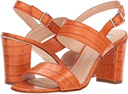 Tangerine Croc Effect Leather
