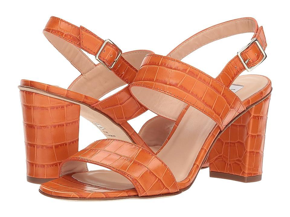 L.K. Bennett Rhiannon (Tangerine Croc Effect Leather) Women