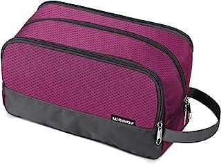 Toiletry Bag Small Nylon Dopp Kit Lightweight Shaving Bag for Men and Women (Rose Red)