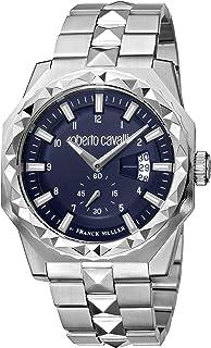 ROBERTO CAVALLI Men's RC-82 Swiss Quartz Watch with Stainless Steel Strap, Silver, 23 (Model: RV1G069M0066)