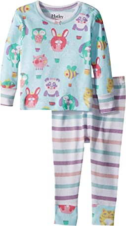 Hatley Kids Cutie Balloonies Long Sleeve Mini Pajama Set (Infant)