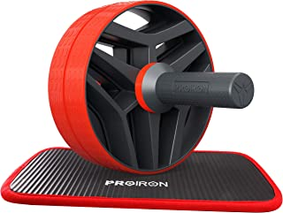 PROIRON腹筋ローラー アブローラー フィットネスローラー 二輪静音 腹筋トレ 男女兼用 取り付け簡単 専用膝マット付き 耐荷重110KG