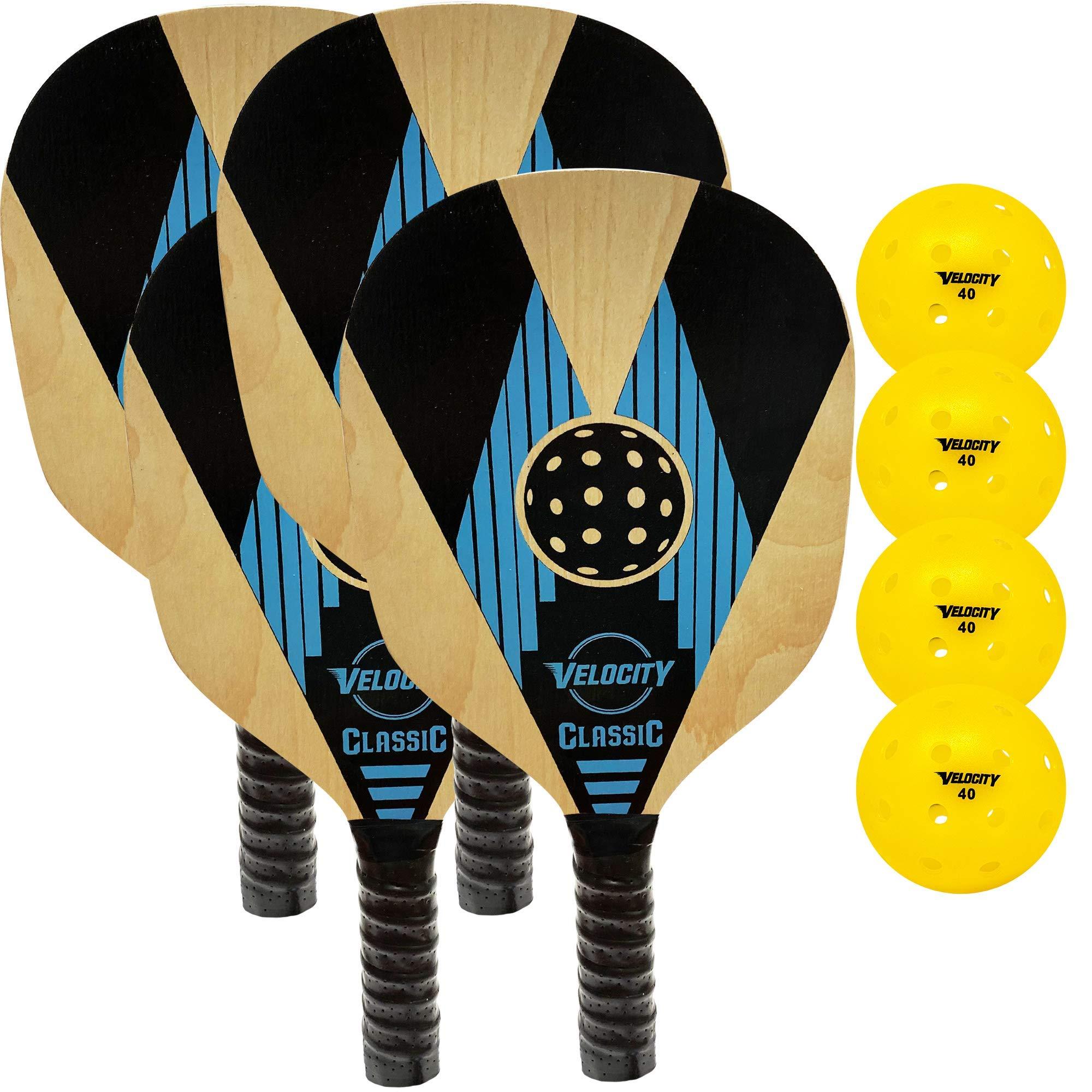 Velocity Wood Paddle s : Sizes: 2 & 4 Paddle Sets. -PVC6