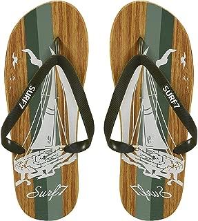 Peach Couture Mens Beach Flip Flops Textured Strappy Slip On Beach Sandals