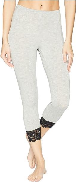 Jessica Modal Capri Leggings with Lace Cuffs
