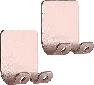 kwmobile 2x houder voor scheermesjes - Set van zelfklevende haakjes - Scheermesjeshouder van aluminium - Wandhaken in rosé...