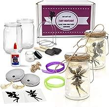 Mason Jar Lantern Craft Kit - DIY Make Your Own Lantern Jar with Glass Jars - Craft Project for Kids - Great Gift (Fairy Lantern (Glass Jars))