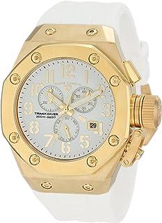 Swiss Legend Men's 10541-YG-02-WA Trimix Diver Chronograph White Dial Watch