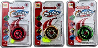 perpetual bliss yoyo spinner toy high gloss high speed / return gifts for kids birthday party (pack of 3)- Multi color