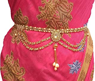 Valusha Fashion kamarband with Pearls for Women