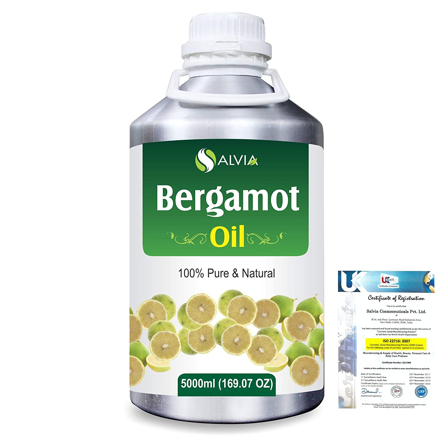 賞賛別々に細部Bergamot (Citrus aurantium) 100% Natural Pure Essential Oil 5000ml/169fl.oz.
